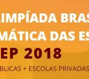 Olimpíada Brasileira de Matemática das Escolas Públicas 2018  (OBMEP)