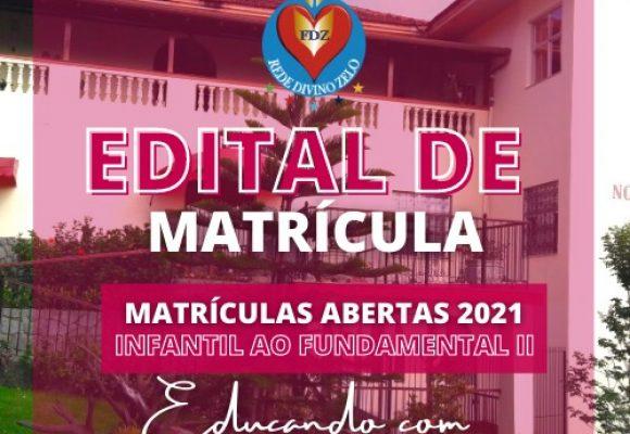 Edital Matrículas 2021